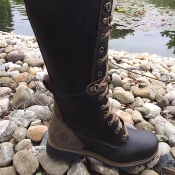 Women's Timberland Tall Lace Up Waterproof Boots